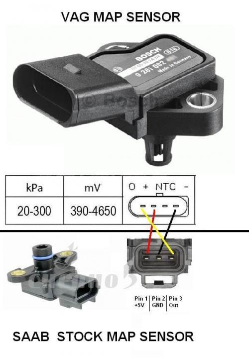 [SCHEMATICS_48YU]  Trionic 8 - 3Bar MAP Sensor - trionictuning.com | Bosch Map Sensor Wiring Diagram 4 Wire |  | Trionic Tuning