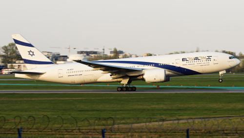 El Al Boeing 777 - przyleciał po uczestników Marszu Żywych