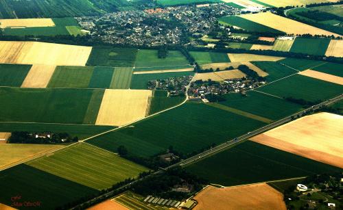 Widoki z samolotu na trasie München-Düsseldorf #krajobrazyzlotuptaka #alicjaszrednicka #pejzaże