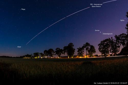przelot ISS #iss #astro #noc #niebo #gwiazdy #Chojnice