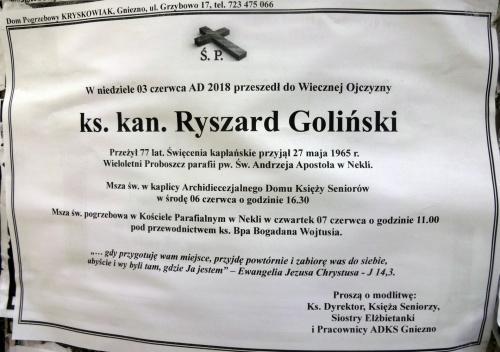Ks. kan. Ryszard Goliński 1941 2018