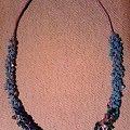 korale na sznurku lnianym