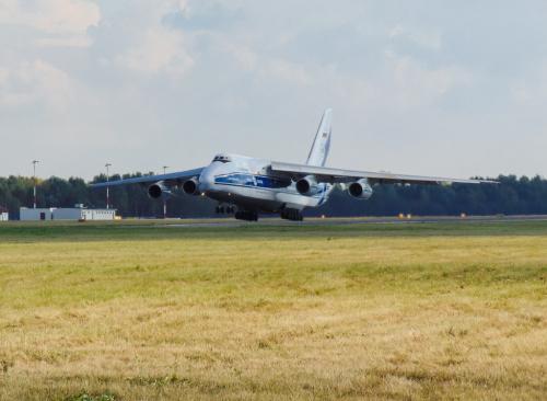 Dzisiejszy odlot Antonova.