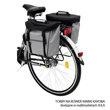 Torby na rower marki Kayoba dostępne w multimarketach JULA