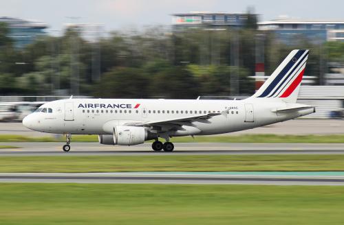 Panning - start Air France