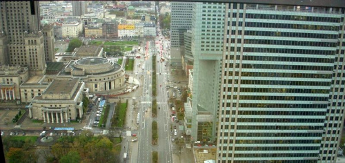 Widok z 42 piętra wieżowca Cosmopolitan