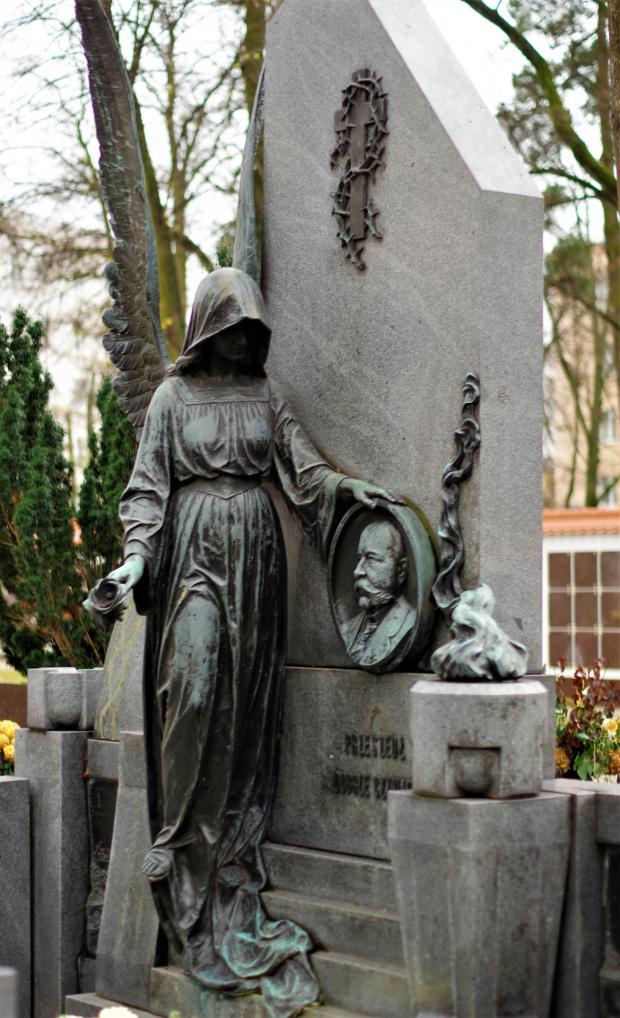 grobowiec Juliusza Vettera na cmentarzu przy ul.Lipowej (część ewngelicka)