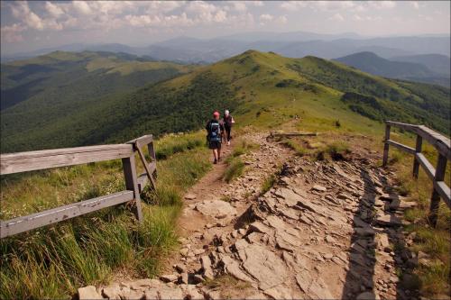 wspomnienia: Bieszczady - na Tarnicę i dalej