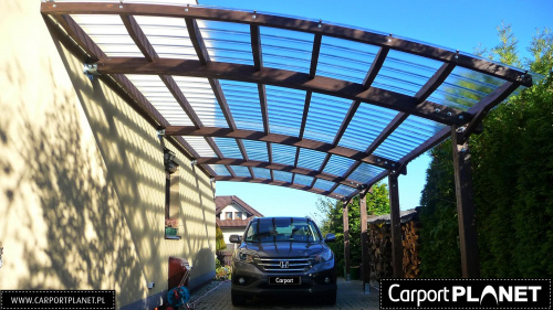 wiata garażowa z poliwęglanu Fastlock Uni projekt p2