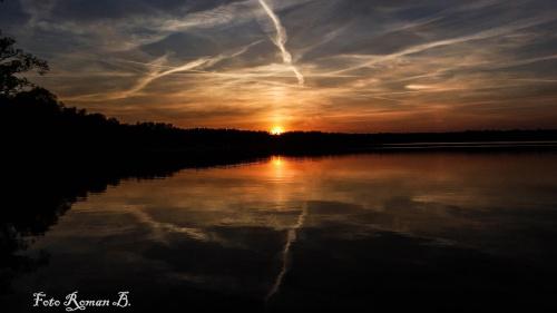 Zachód słońca Chechło Nakło